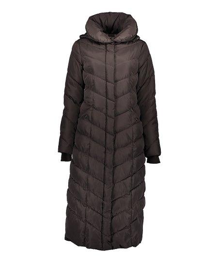 129c4e68705 love this product Titanium Chevron Long Puffer Coat