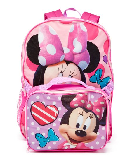 02b16a91cc5 Global Design Disney Pink Minnie Mouse Backpack   Lunch Bag