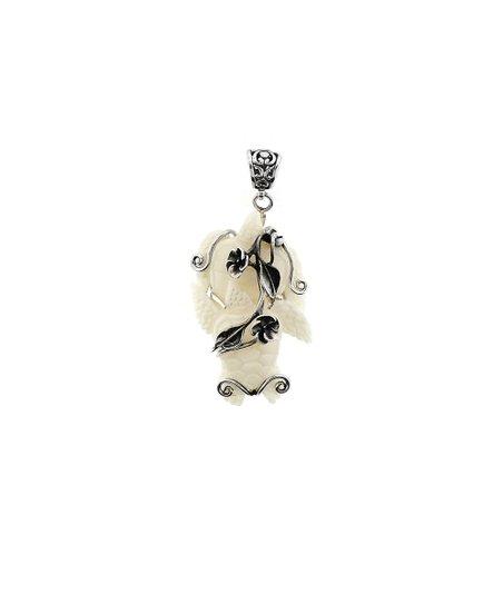 Talia Merav Hand Carved Bone Turtles Sterling Silver Pendant Zulily