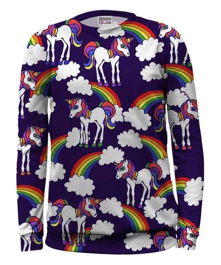 2a25f2b24b3afd Mr. Gugu   Miss Go Dark Purple Unicorn Pullover - Toddler   Girls ...