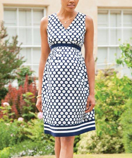 ea9c98e05aa love this product Navy   White Polka Dot Maternity Dress