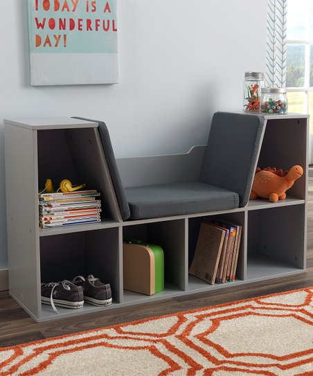 Kidkraft Gray Bookcase Reading Nook Zulily