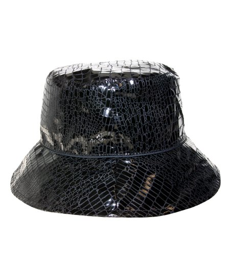 601d80d81555a Nine West Black Snake Skin Print Waterproof Bucket Hat