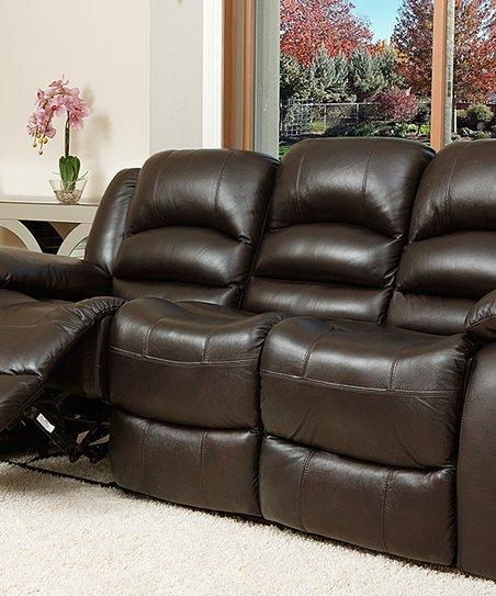 Espresso Brown Rus Leather Sofa Zulily