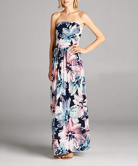 30d9d53e153f love this product Navy Floral Pocket Maxi Dress