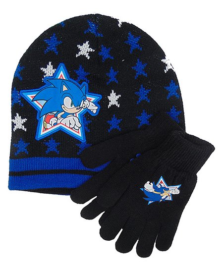 Sonic The Hedgehog Knit Hat And Gloves Best Price And Reviews Zulily