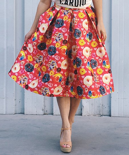 e460c60030 love this product Pink Donut Midi Skirt