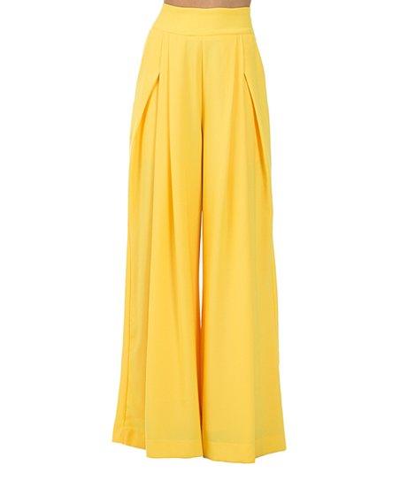 ed34f55f8fca love this product Yellow High-Waist Palazzo Pants - Women