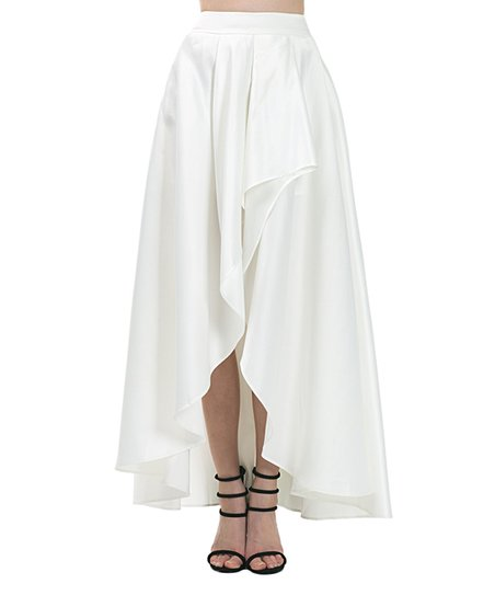 01cc90503 love this product Off-White Front-Slit Hi-Low Skirt