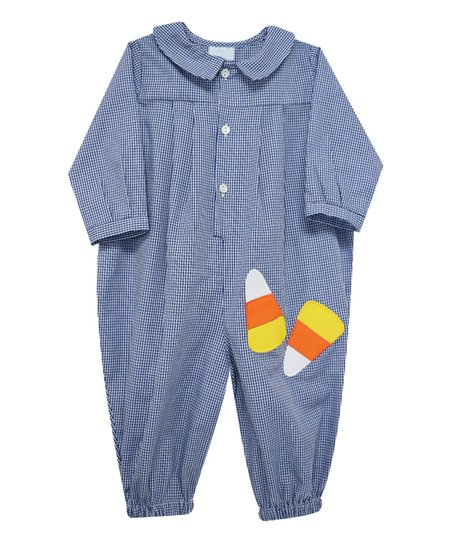 8ccae5b62903 Betti Terrell Blue Checkerboard Candy Corn Gingham Playsuit - Infant ...