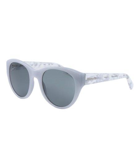 069d79e74e Coach Dove Gray   White Crystal Mosaic Oversize Sunglasses