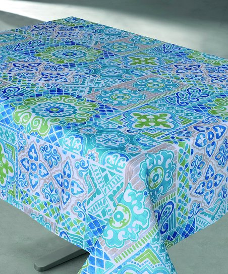 Blue Suzani Tablecloth
