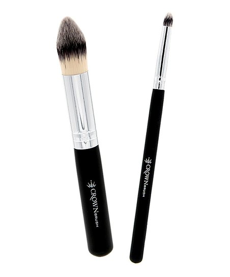 Crown Brush Pointed Blender Brush & Deluxe Precision Crease Brush