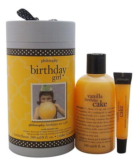 Birthday Girl Vanilla Cake Shower Gel Lip Shine
