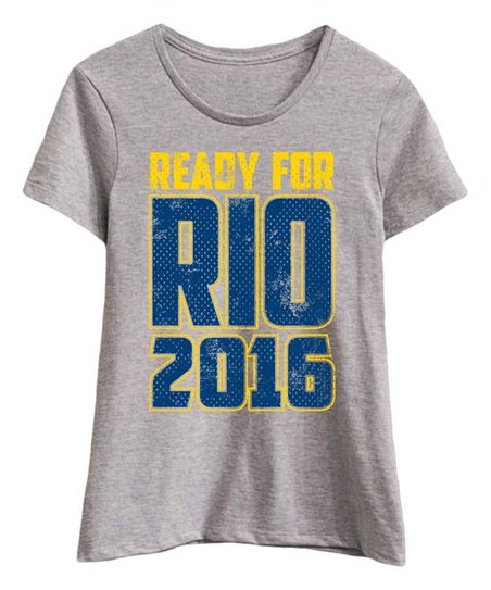 Athletic Heather 'Ready for Rio 2016' Fitted Tee - Women
