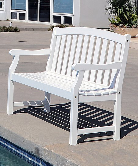 Miraculous Vifah Bradley Curve Top Garden Bench Zulily Short Links Chair Design For Home Short Linksinfo