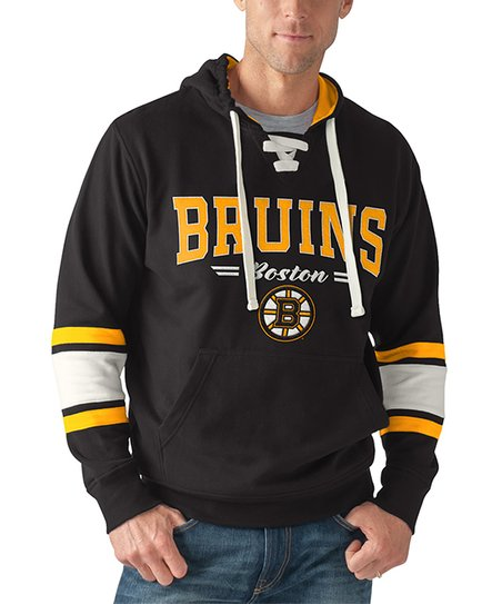 competitive price f885c 4c301 NHL Boston Bruins Icing Lace-Up Fleece Hoodie - Mens Regular ...
