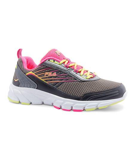FILA Dark Gray & Pink Forward 3 Running Shoe Women
