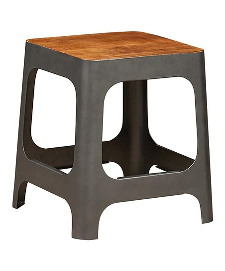 Amazing Wood Iron Square Stool Side Table Zulily Squirreltailoven Fun Painted Chair Ideas Images Squirreltailovenorg