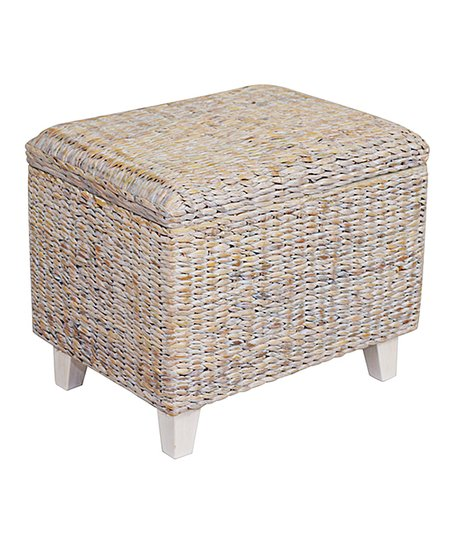 Miraculous Jeffan White Wash Woven Storage Ottoman Zulily Forskolin Free Trial Chair Design Images Forskolin Free Trialorg