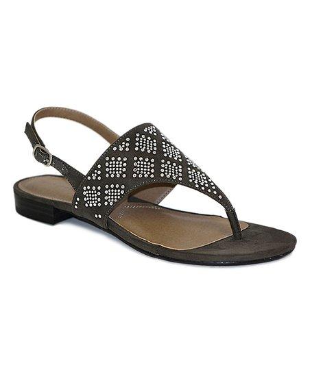 b3491c1b3277 Adrienne Vittadini® Gray Merian Suede Thong Sandal