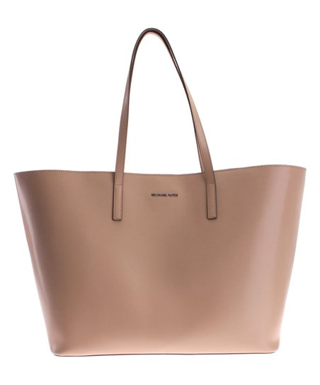 8419fa2b455d81 Michael Kors Bisque Emry Extra-Large Leather Tote | Zulily
