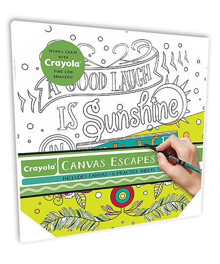 Crayola A Good Laugh Is Sunshine In The House Color In Canvas Art