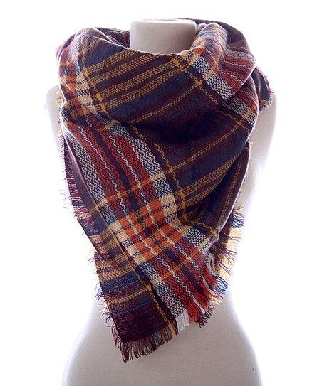 2f58b4851c7 Brown & Cream Plaid Blanket Scarf