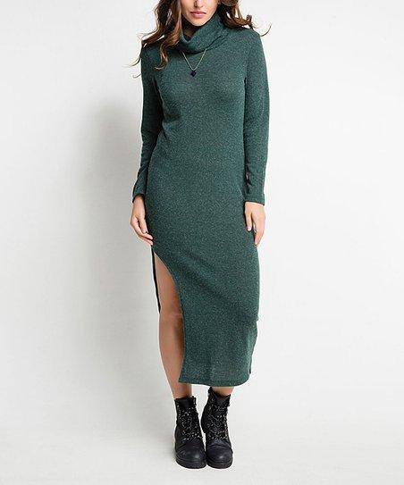 b5a9ee3fd92e Milan Kiss Green Turtleneck Midi Dress - Women   Plus
