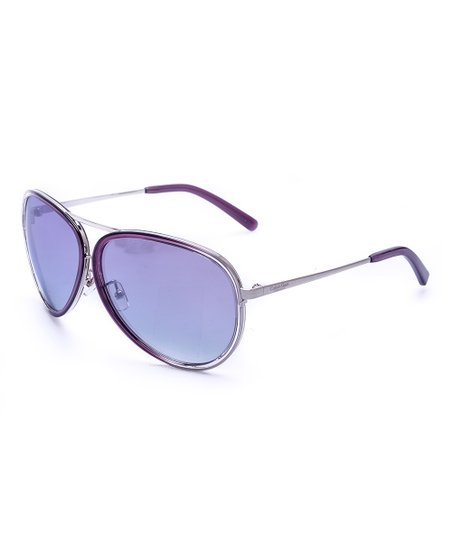 c92fb48451df6 love this product Purple   Silver Aviator Sunglasses - Women