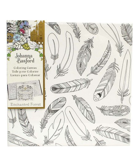 Johanna Basford Enchanted Forest Feathers Coloring Canvas | zulily
