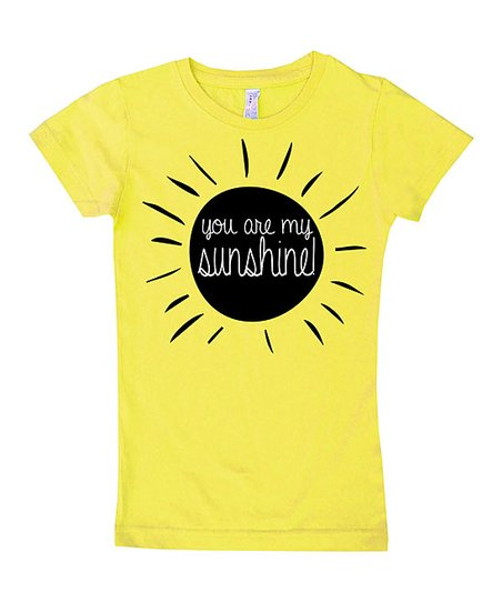 126070209ad7 love this product Yellow 'You Are My Sunshine' Fitted Tee - Toddler & Girls