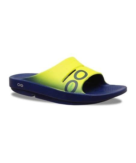 22536799a love this product Yellow   Navy Ooahh Sport Slide - Adult