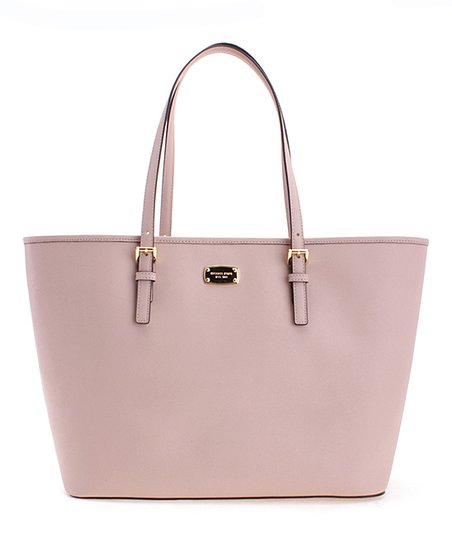 22e5ddd9e8a2a1 Michael Kors Ballet Jet Set Travel Large Carry-All Leather Tote | Zulily