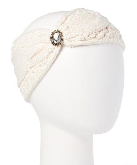DNMC Ivory Jeweled Head Wrap  7e5328d6c15