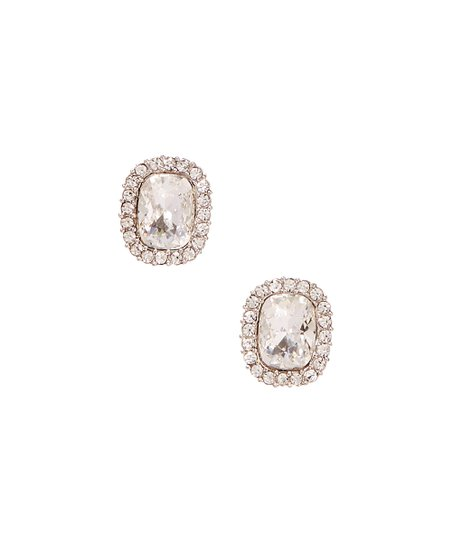 fa5cbe496 Forever Crystals Swarovski® Crystal Rectangle Stud Earrings   Zulily