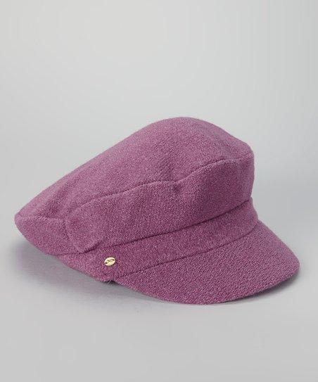 f1babecb love this product Purple Angora-Wool Blend Newsboy Cap