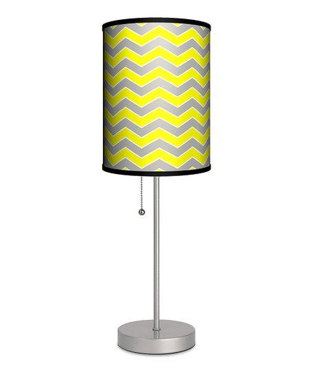 cfd8fb07e29b Lampables Gray & Yellow Zigzag Lamp | Zulily