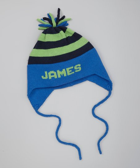 love this product Royal Stripe Personalized Ear Flap Hat 3ca7e286b94