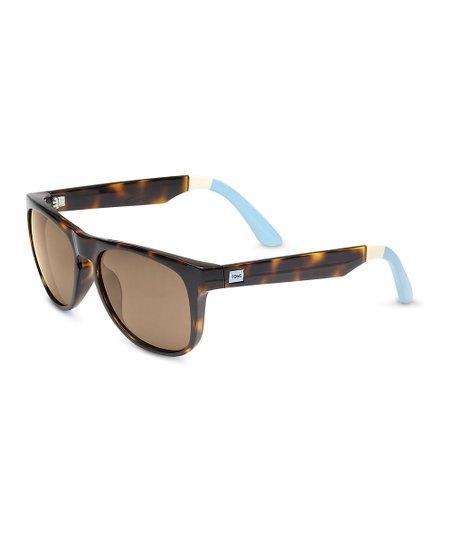 56eb0a0d3d99 love this product Tortoise & Light Blue Phoenix Polarized Sunglasses