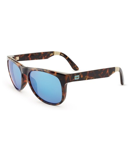 cf5d6f0430cf TOMS Blonde Tortoise & Blue Phoenix Polarized Sunglasses - Adult ...