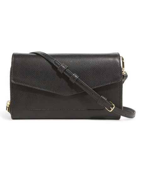 f1d20209e Vera Bradley Black Leather Ultimate Crossbody Bag | Zulily