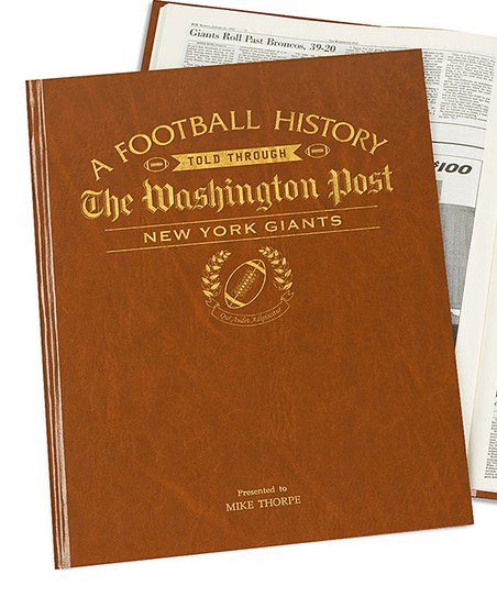 love this product Washington Post New York Giants Personalized Hardcover ad30bd562