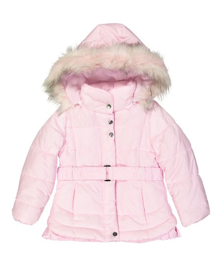a009e736b Jessica Simpson Collection Light Pink Hooded Puffer Coat - Toddler ...