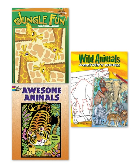- Dover Publications Animal & Jungle Coloring Book Set Best Price And  Reviews Zulily