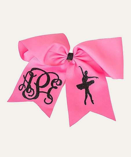 """monogramed three initial hair bow-personalized-6/"""""""