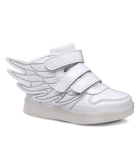 b11f8581c6d8 love this product White LED Winged High-Top Sneaker