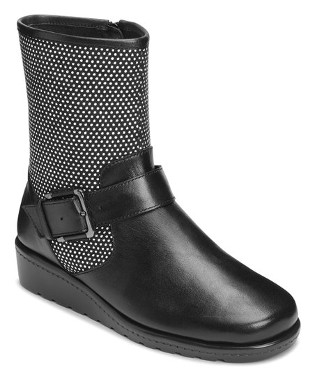 0244af5231a Aerosoles Black Studs House Party Leather Boot