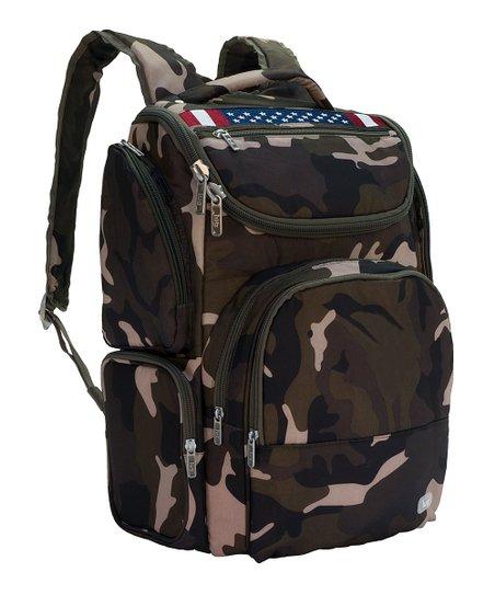 Lug Camo Olive American Flag Backpack  a7eb11c43db