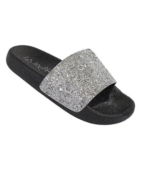 a91ed38e5ea919 love this product Silver Glitter Rio Slide Sandal